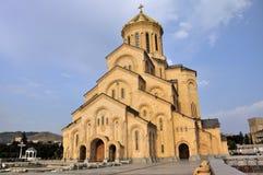 大教堂sameba第比利斯 免版税库存照片