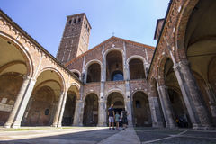 大教堂Sant ` Ambrogio米兰,意大利- 2016年8月8日 库存图片