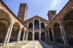 大教堂Sant ` Ambrogio米兰,意大利- 2016年8月8日 免版税库存图片