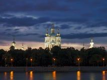 大教堂smolny彼得斯堡的圣徒 免版税库存图片
