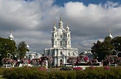 大教堂smolny彼得斯堡的圣徒 免版税库存照片