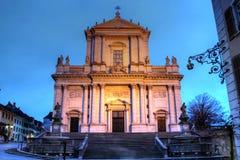 大教堂solothurn st瑞士ursen 库存图片