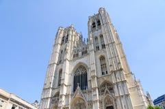 大教堂St.Michel在布鲁塞尔,比利时 图库摄影