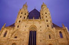 大教堂st stephan ・维也纳 库存照片