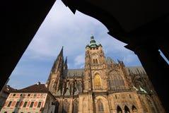大教堂StVitus,布拉格,捷克共和国 库存图片