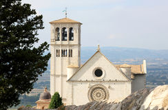 大教堂superiore di圣弗朗切斯科在阿西西 免版税库存照片