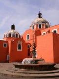 大教堂tlaxcala 免版税库存图片
