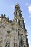 大教堂Trinitatis关闭从德累斯顿在德国 免版税库存照片