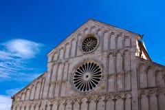 大教堂zadar克罗地亚的门面 免版税图库摄影