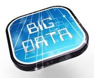 大数据商标数字信息3d例证 库存例证