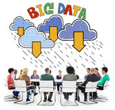大数据存储数据库下载概念 图库摄影