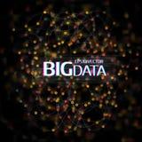 大数据形象化 与小点列阵的抽象背景和 图库摄影