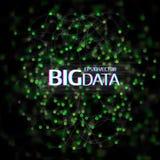 大数据形象化 与小点列阵的抽象背景和 库存照片