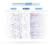 大数据形象化 信息逻辑分析方法概念 抽象小河信息 过滤的机器算法 免版税库存图片