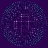 大数据形象化 背景3D 大数据连接背景 网络技术Ai技术未来派导线的网络 免版税图库摄影