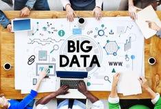 大数据技术服务器存贮系统概念 免版税库存图片