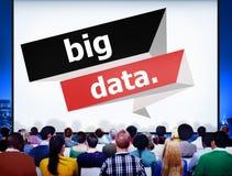 大数据网连接的存贮计算的互联网概念 库存图片