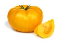 大新鲜的黄色蕃茄 免版税库存照片