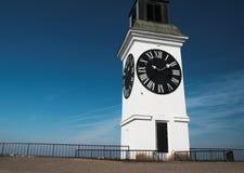 大时钟概念时间塔 免版税库存照片