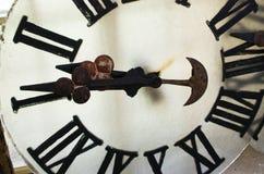 大时钟的被卸下的面孔 免版税库存照片