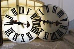 大时钟的被卸下的面孔 库存图片