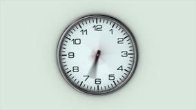 大时钟迅速转动 向量例证