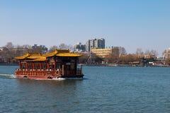 大明湖河  库存图片