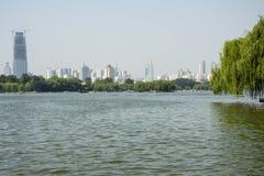 大明湖,中国 免版税库存照片