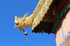 大昭寺寺庙的一个修造的角落 免版税库存图片