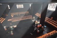 大昭寺寺庙蜡烛屋子  免版税库存照片