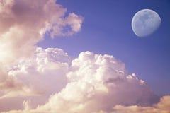 大月亮天空 免版税库存照片