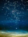 大月亮晚上空间 免版税库存照片