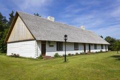 大木小屋在博物馆在Tokarnia,波兰 库存照片