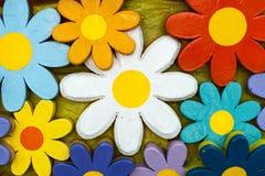 大木花的纹理绘与色的墨水 库存图片