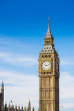 大本钟和威斯敏斯特修道院,伦敦,英国 库存图片