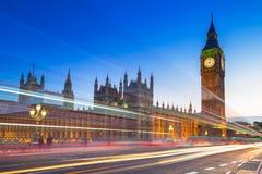 大本钟和威斯敏斯特宫在伦敦 库存照片