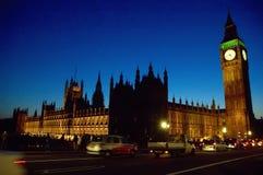 大本钟和威斯敏斯特宫殿,伦敦,英国 库存照片