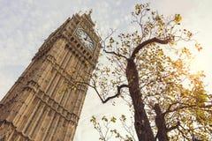 大本钟在伦敦英国 图库摄影