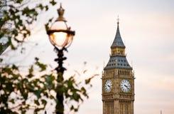 大本钟在伦敦 库存照片