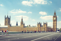 大本钟在晴天,伦敦 免版税库存图片