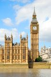 大本钟塔和一部分的议会议院  库存图片