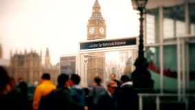 大本钟塔的看法  中部和特写镜头 影视素材