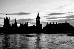 大本钟尖沙咀钟楼和议会房子在威斯敏斯特 图库摄影