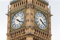 大本钟时钟表盘,伦敦,英国 免版税库存图片