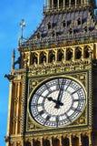 大本钟的Clockface在伦敦 免版税库存图片