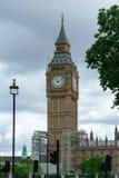 大本钟看法在2017年7月30日的伦敦 免版税库存照片