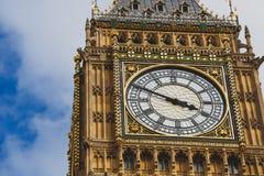 大本钟钟楼的细节 免版税库存照片