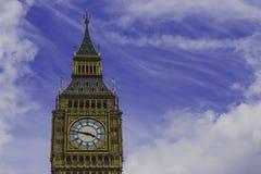 大本钟钟楼的细节 库存照片