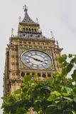 大本钟钟楼的细节 图库摄影