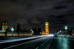 大本钟,威斯敏斯特宫(议会议院) 免版税图库摄影